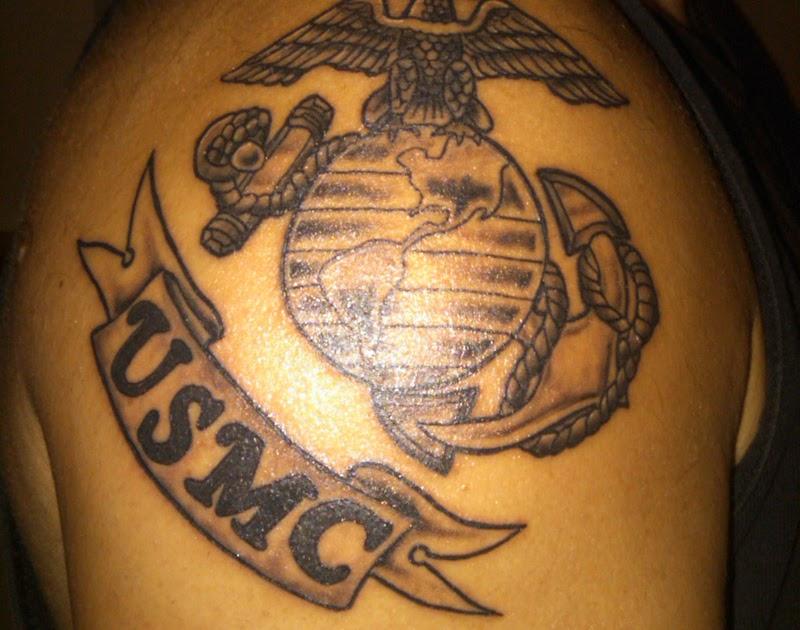 Semper Fi Tattooed On His Left Arm