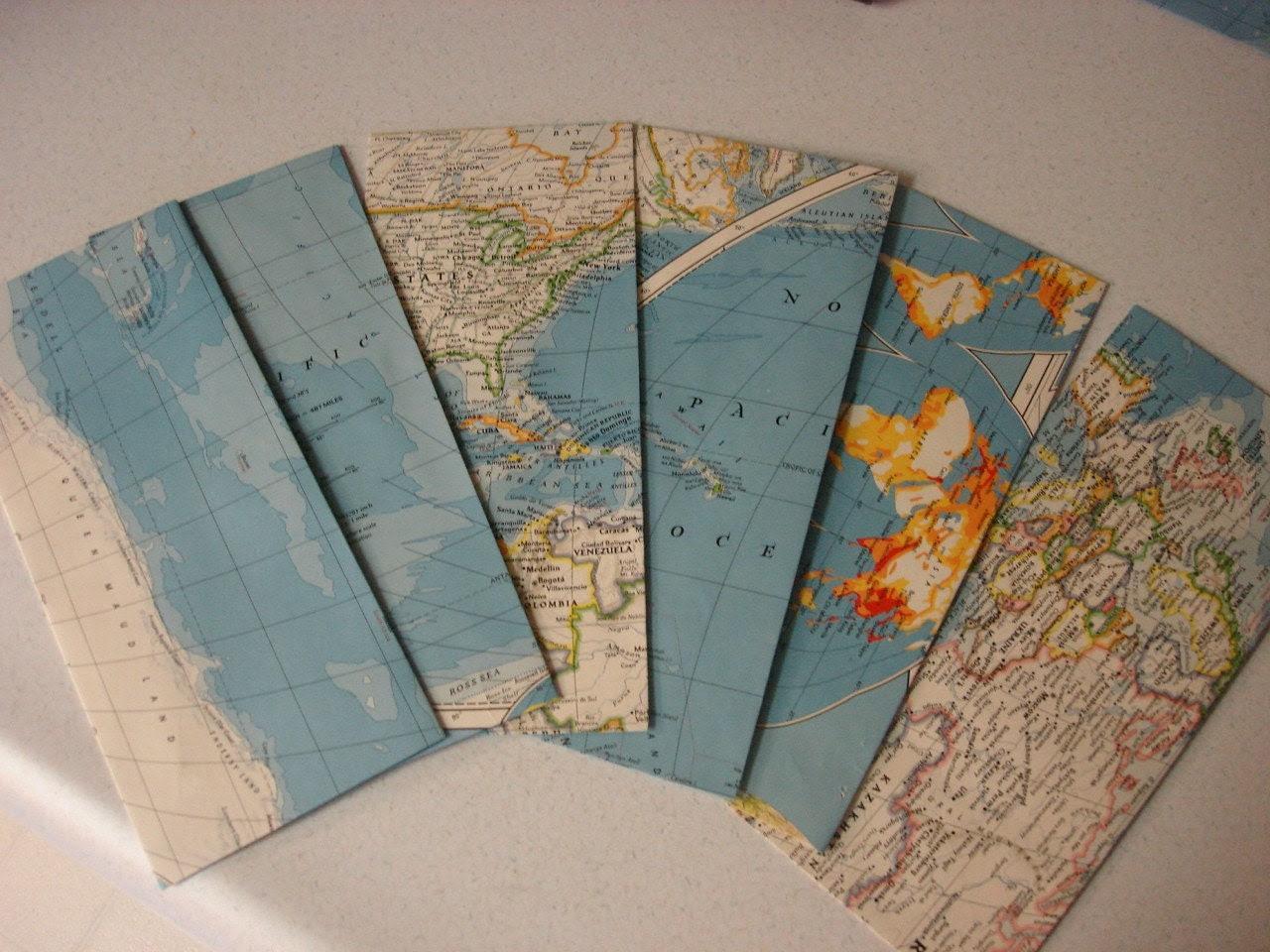 Physical or Political Map Envelopes