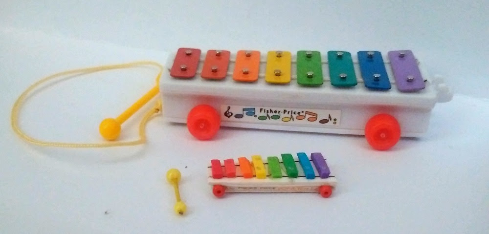 1/6 scale vs. 1/12 scale Fisher Price Xylophone