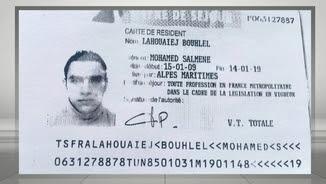 La documentació de Mohamed Lahouaiej Bouhlel que la policia va trobar al camió