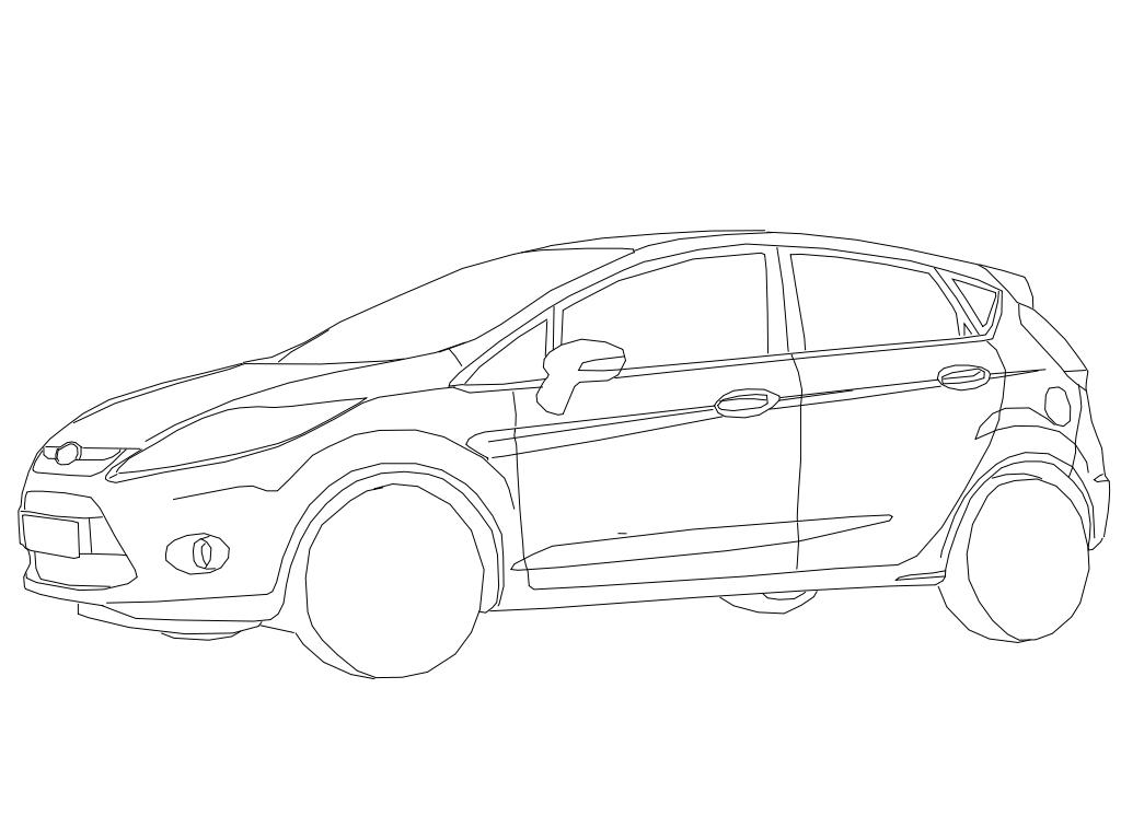 Dessin coloriage Ford