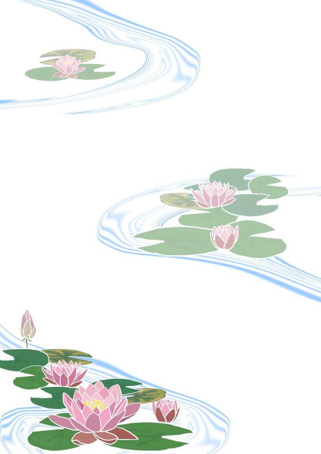 花の便箋 無料テンプレート スイレン Template Millionテンプレート