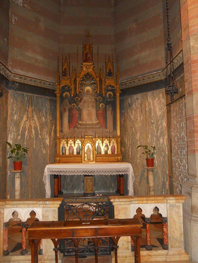 Rom, kyrka Sacred Heart of Jesus i Prati - Altare av vår Lady av Rosario.JPG