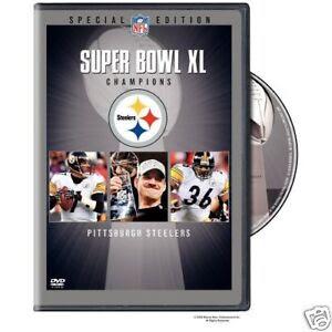 NFL DVD super bowl 40 XL Pittsburgh Steelers  Seahawks  eBay