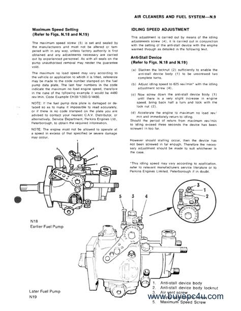 Perkins 4.108 Series Engines Workshop Parts Manuals PDF