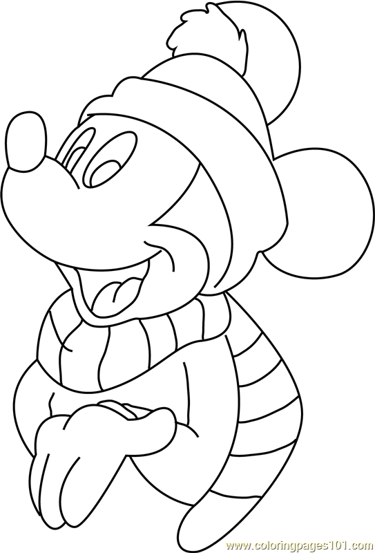 Disney Christmas Mickey Mouse s Coloring Page - Free ...