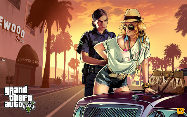 """""""Stop and Frisk"""" (""""Dura"""" - em tradução livre) - imagem divulgada pela Rockstar"""
