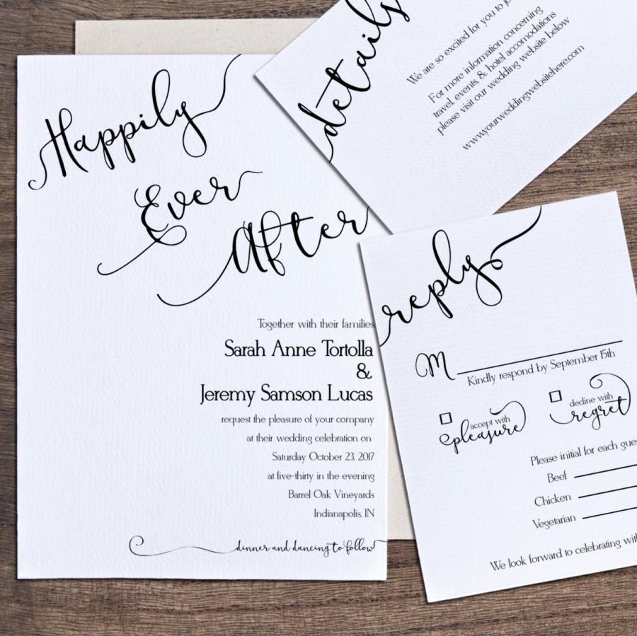 Happily Ever After Wedding Invitations | Wedding Invitation wording