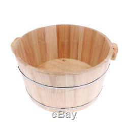 Pratique Bois Pied Bassin Pour Baignoire Bucket Bain De Pieds Massage Spa Sauna Soaking