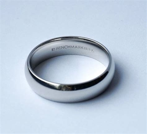 6mm Platinum Wedding Band Ring, Standard Comfort Fit, Mens