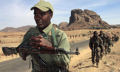 Ethiopian troops in central Eritrea