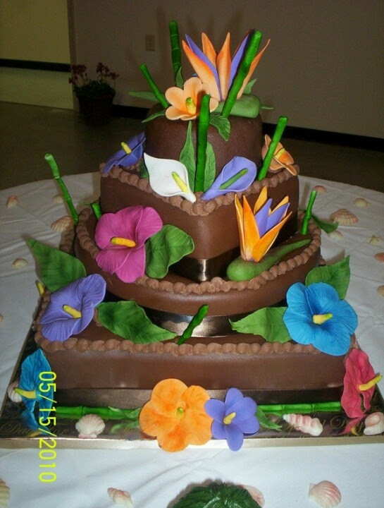 Tropical cake decoration