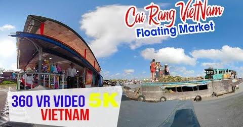 360 VR VIDEO 5K ▶ Chợ nổi Cái Răng Cần Thơ đẹp ngất ngây qua góc nhìn 360 độ
