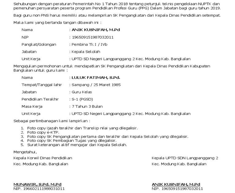 29+ Contoh Surat Lamaran Guru Honorer Ke Dinas Pendidikan ...
