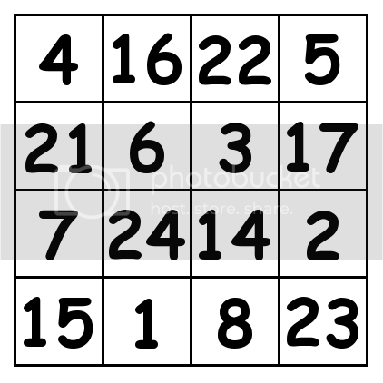 4 by 4 grid Solution 4