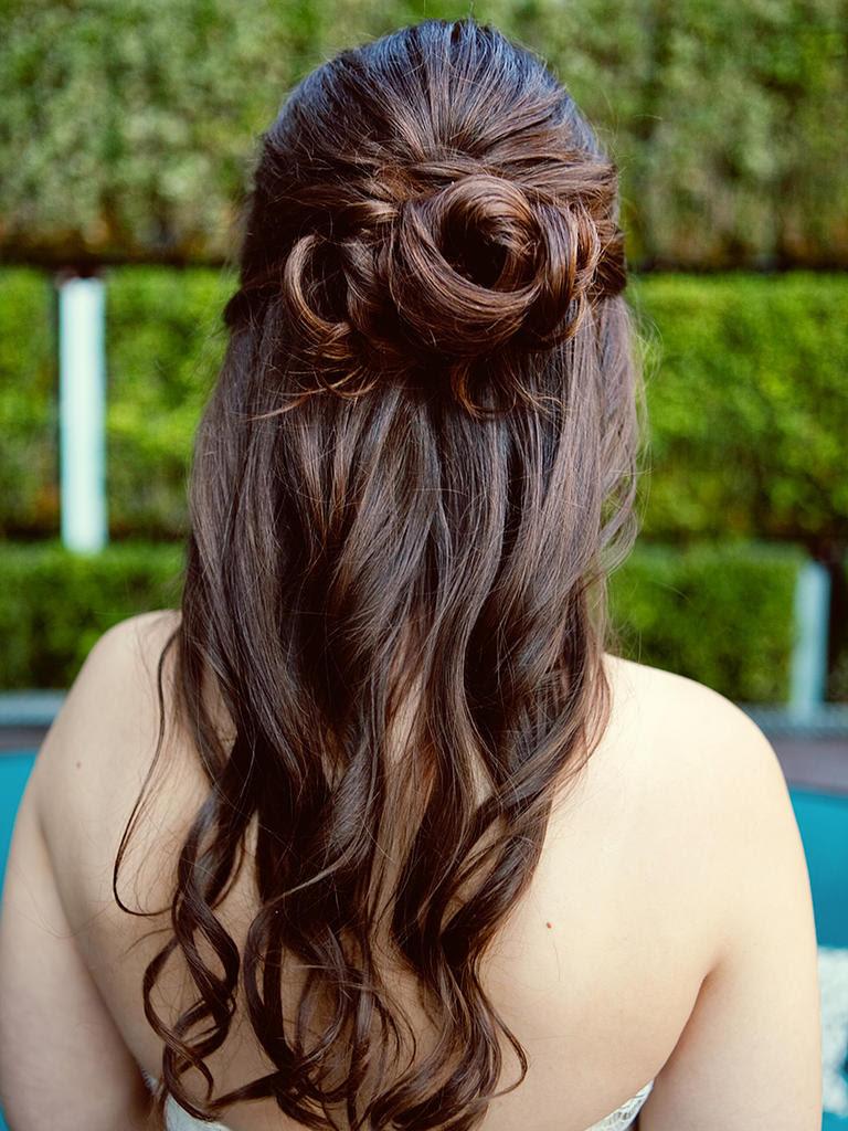 15 Half-Up Wedding Hairstyles for Long Hair - Wohh Wedding