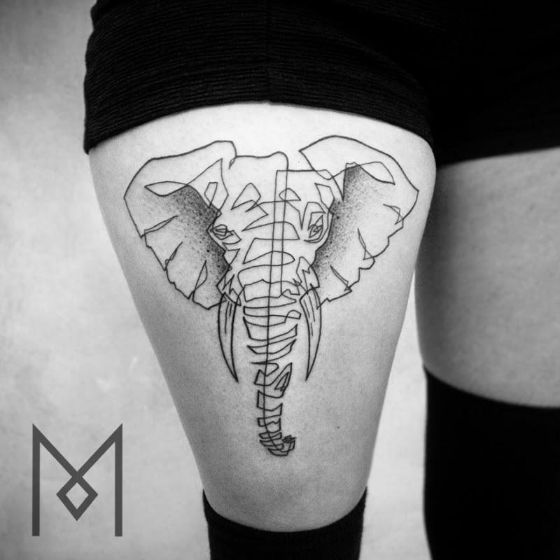 Minimalist One Continuous Line Tattoos Iranian-German ...