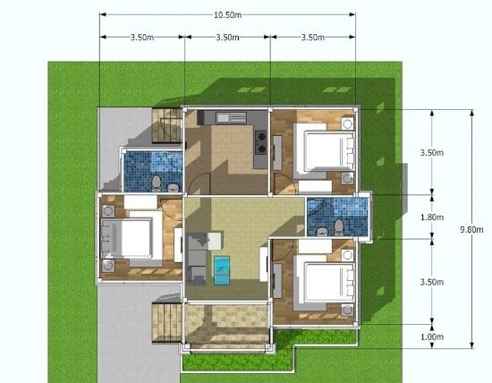 Desain Rumah Minimalis Atap Limas   Ide Rumah Minimalis