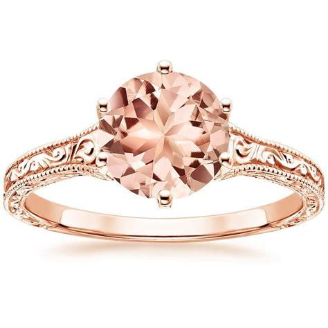 14K Rose Gold Morganite Hudson Ring   Products   Pinterest