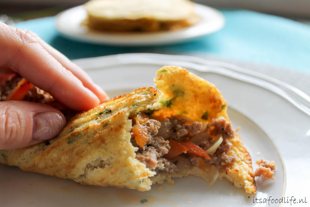 bloemkool tortillas met pittig gekruid gehakt | It's a Food Life