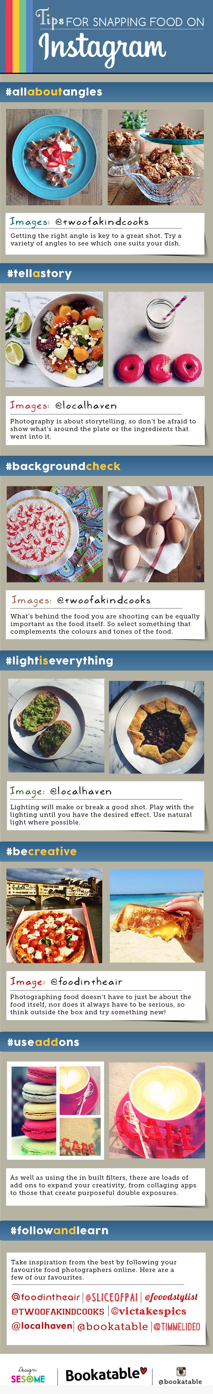 Infographic: Tips For Snapping Food On Instagram #infographic