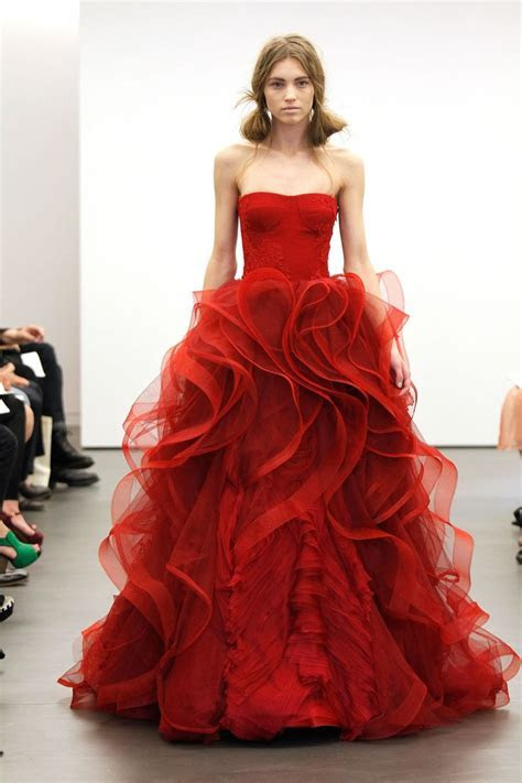 17 Best ideas about Red Wedding Gowns on Pinterest   Red