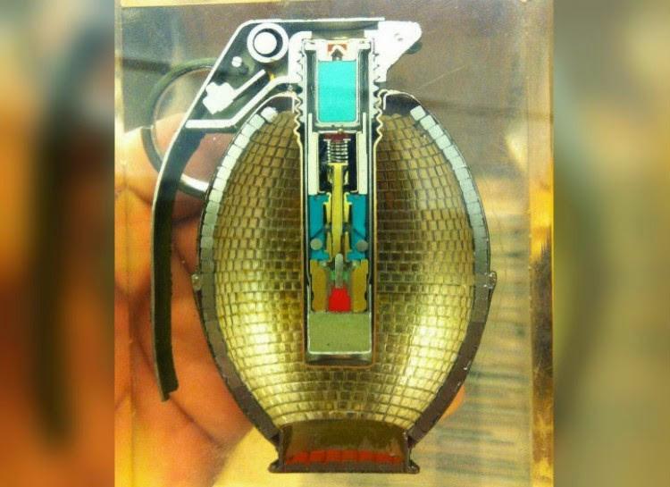 24 fragmentation grenades in a cut.  unusual, amazing photos,