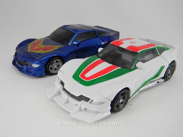 Transformers Wheeljack Generations Deluxe - modo alterno vs Tracks