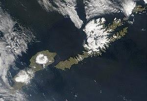 Satellite picture of Umnak and Unalaska Island...