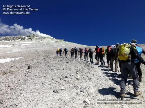 Trekking Mount Damavand Iran