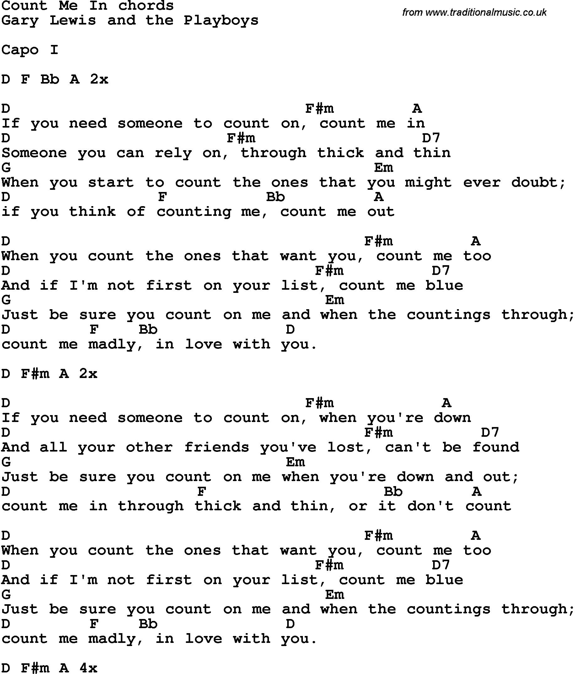 Skatt Utleie Count On Me Lyrics