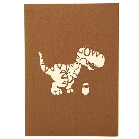 T rex pop up card, Dinosaur pop up card, pop up birthday