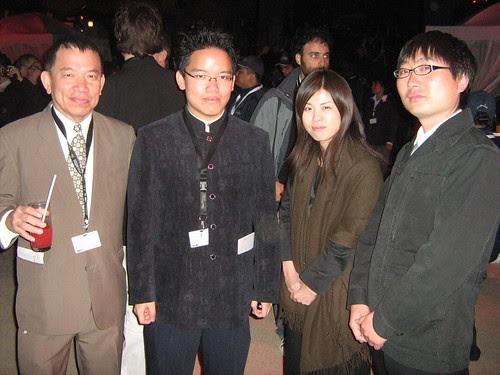 With Japanese filmmakers, Tsuki Inoue (