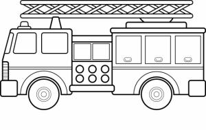 Coloriage De Camions De Pompiers Gratuit à Imprimer Pour Les Enfants