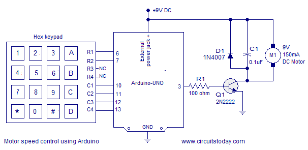 pwm motor speed control using arduino