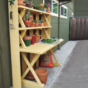 Turn a Picnic Table into a Potting Bench » The Homestead Survival