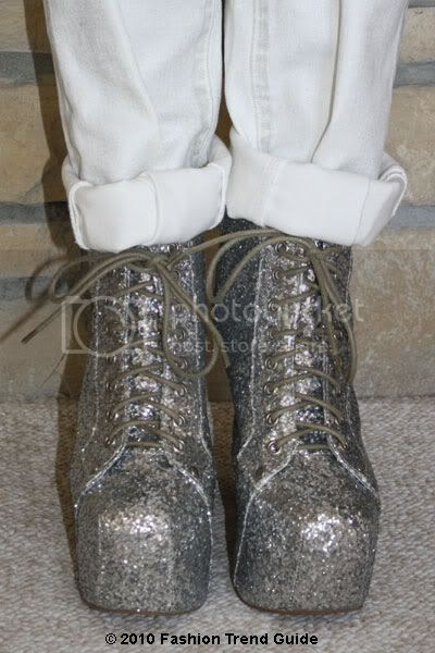 Jeffrey Campbell silver glitter Lita