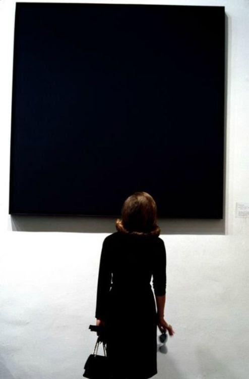 somethingtoseeorhear:  Burt Glinn, Ad Reinhardt painting at the MoMa, N Y C, 1964