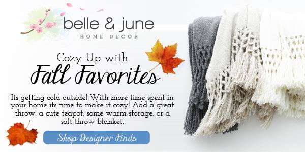 Cozy Up with Amazing Home Accents This Fall- Over 7000+ products www.belleandjune.com