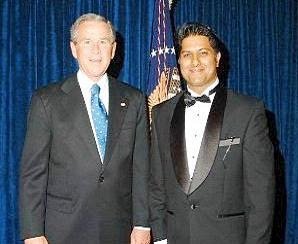 Rahul Manchanda and President George Bush.jpg