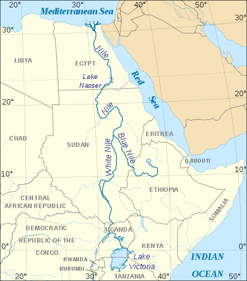 Nile River On Map Of Africa | Map Of Africa