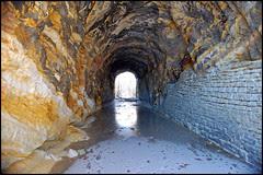 split rock tunel interior