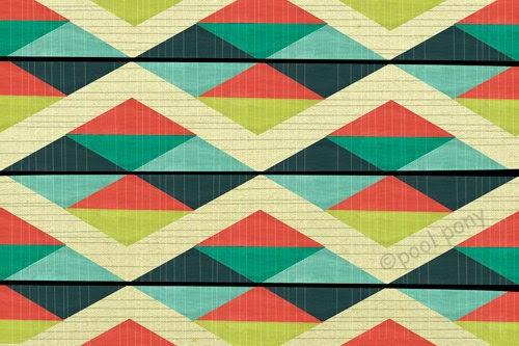 grid lock - mid century design art print