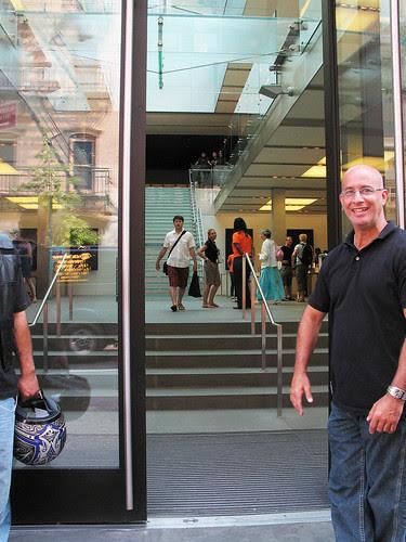 Outside the Apple Store, Soho