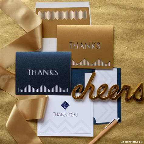 Modern Wedding Thank You Cards   Lia Griffith