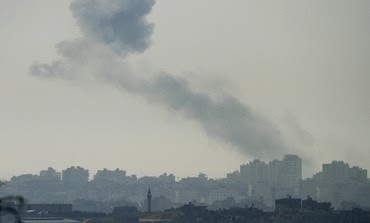 Smoke rises in Gaza after IAF air strike [file]