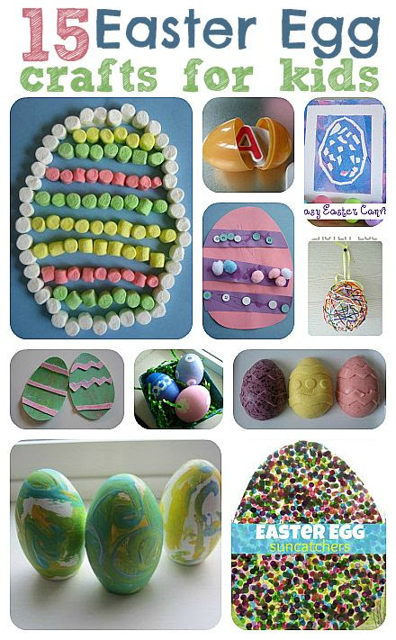Easy Easter egg crafts for kids. All fun and easy enough for little hands to do with little to no help!