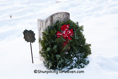 Wreath on Veteran's Grave, Forest Hill Cemetery, Madison, Wisconsin