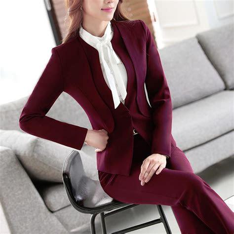piece ladies formal pant suit office uniform designs