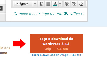 Download WordPress - imagem retirada do site www.escolawp.com